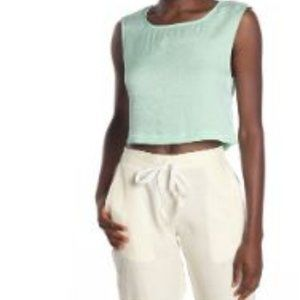 Onia Charlotte Cropped Tank Top size M NWT